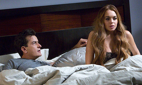 Charlie Sheen and Lindsay Lohan make ill-advised appearances in the unfunny 'Scary Movie 5'