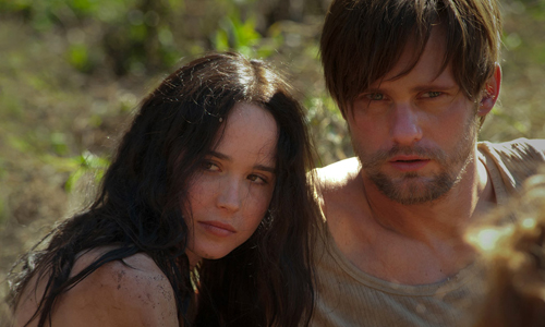 Ellen Page and Alexander Skarsgard in 'The East'