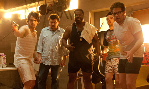 James Franco, Danny McBride, Craig Ferguson, Jay Baruchel and Seth Rogen fight to survive the apocalypse in 'This is the End'
