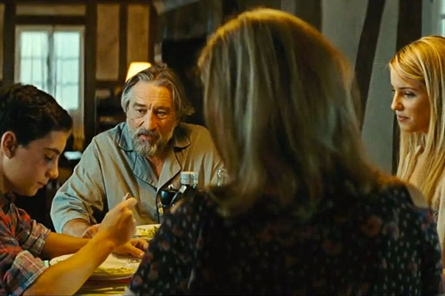 John D'Leo, Robert DeNiro, Michelle Pfeiffer and Dianna Agron are 'The Family'