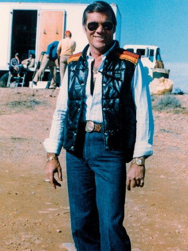 Hal Needham on the set of 'Smokey and the Bandit'