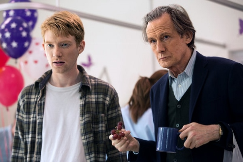 Dohmnall Gleeson and Bill Nighy in 'About Time'