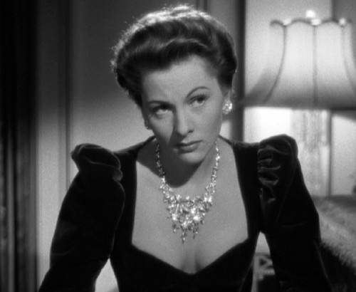 "Joan Fontaine in her Academy Award winning role as ""Rebecca"""