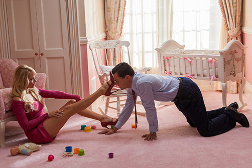 Margot Robbie and Leonardo DiCaprio in 'The Wolf of Wall Street'