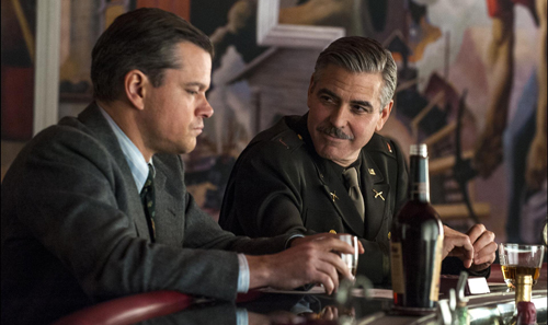 George Clooney stars and directs 'Monuments Men,' seen here with co-star Matt Damon