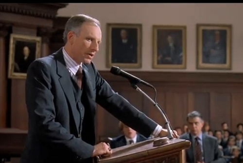 "James Rebhorn in 'Scent of a Woman' as ""Headmaster Trask"""