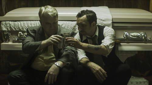 "Philip Seymour Hoffman and Eddie Marsan in ""God's Pocket"