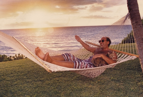 Shep Gordon relaxing at his home in Hawaii