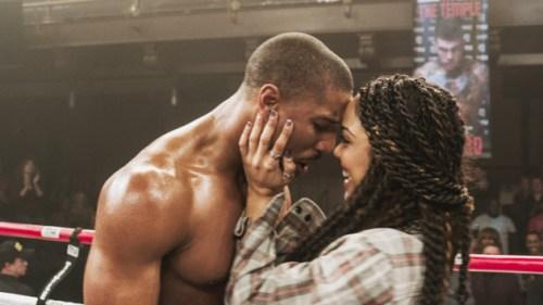 Michael B. Jordan and Tessa Thompson in 'Creed'