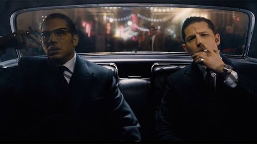 Tom Hardy portrays both of the Kray twins in 'Legend'