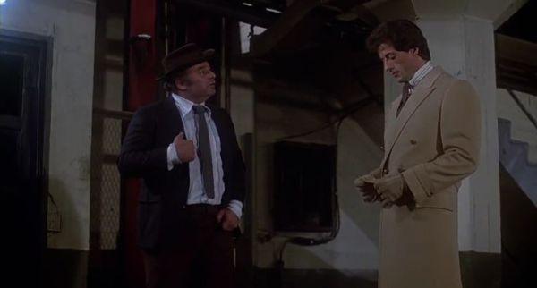 Paulie Pennino and Rocky in a scene from 'Rocky III'