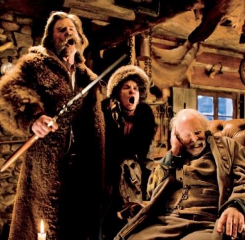 Kurt Russell, Jennifer Jason Leigh and Bruce Dern in 'The Hateful Eight'