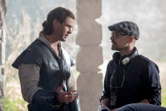 "(L to R) CHRIS HEMSWORTH as Eric the Huntsman and director CEDRIC NICOLAS-TROYAN on the set of ""The Huntsman: Winter's War,"" the story that came before Snow White. Hemsworth and Oscar® winner Charlize Theron return to their roles from ""Snow White and the Huntsman,"" joined by Emily Blunt and Jessica Chastain."