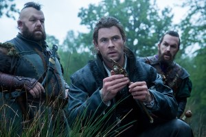 "Nion (NICK FROST), Eric the Huntsman (CHRIS HEMSWORTH) and Gryff (ROB BRYDON) in the story that came before Snow White: ""The Huntsman: Winter's War."" Hemsworth and Oscar® winner Charlize Theron return to their roles from ""Snow White and the Huntsman,"" joined by Emily Blunt and Jessica Chastain."