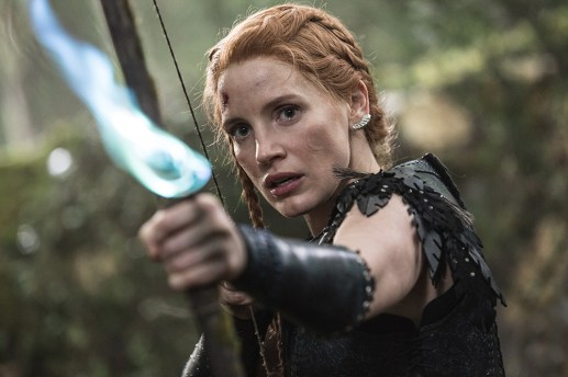 "JESSICA CHASTAIN as the warrior Sara in the story that came before Snow White: ""The Huntsman: Winter's War."" Chris Hemsworth and Oscar® winner Charlize Theron return to their roles from ""Snow White and the Huntsman,"" joined by Emily Blunt and Chastain."