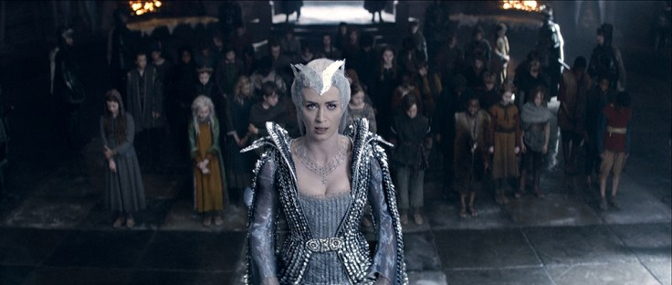 "EMILY BLUNT as the Ice Queen Freya assembles an army in the story that came before Snow White: ""The Huntsman: Winter's War."" Chris Hemsworth and Oscar® winner Charlize Theron return to their roles from ""Snow White and the Huntsman,"" joined by Blunt and Jessica Chastain."