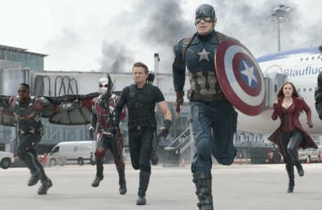 Meet 'Team Cap' in 'Captain America: Civil War' - Falcon (Anthony Mackie), Ant-Man (Paul Rudd), Hawkeye (Jeremy Renner), Captain America (Chris Evans), Scarlet Witch (Elizabeth Olsen) and Winter Soldier (Sebastian Stan)