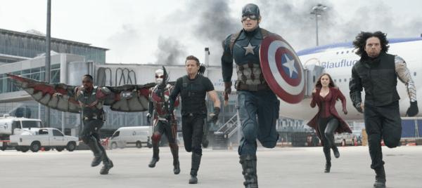 Anthony Mackie, Paul Rudd, Jeremy Renner, Chris Evans, Elizabeth Olsen, Sebastian Stan star in 'Captain America: Civil War'