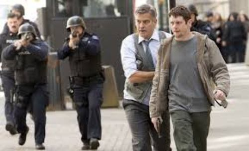 George Clooney and Jack O'Connell in 'Money Monster'