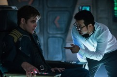 Left to right: Chris Pine and Director Justin Lin on the set of 'Star Trek Beyond'