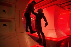 Left to right: Chris Pine plays Kirk and Idris Elba plays Crowl in 'Star Trek Beyond'