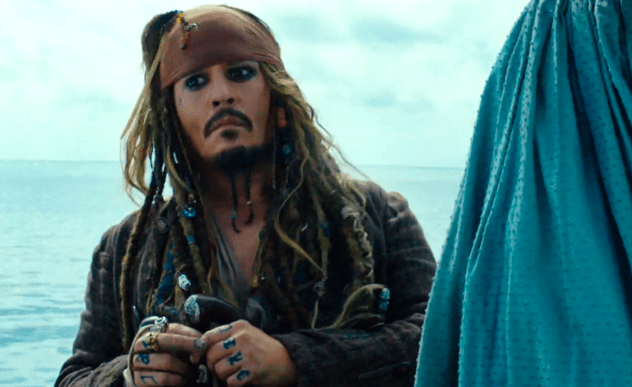 Johnny Depp in 'Pirates of the Caribbean: Dead Men Tell No Tales'