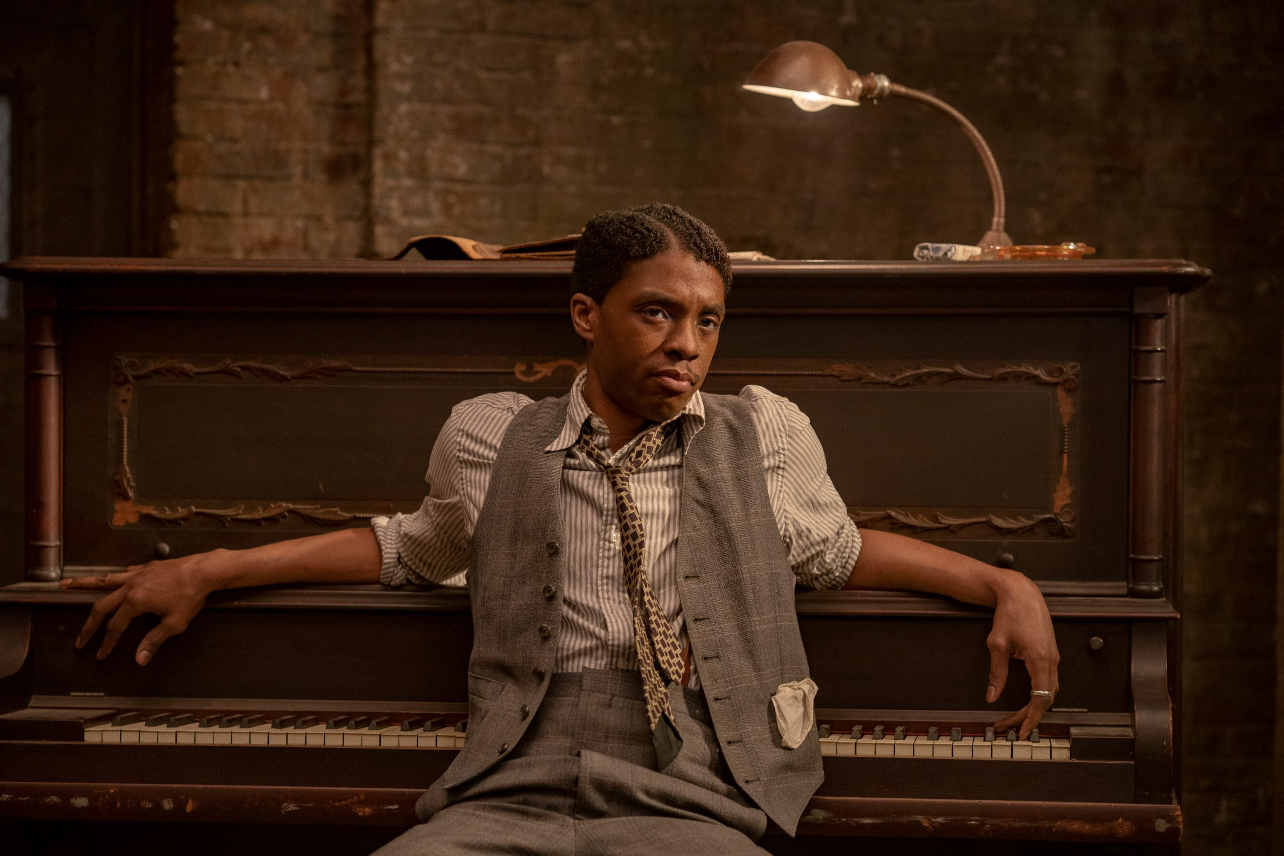 Chadwick Boseman in 'Ma Rainey's Black Bottom' on Netflix. (David Lee / Netflix)