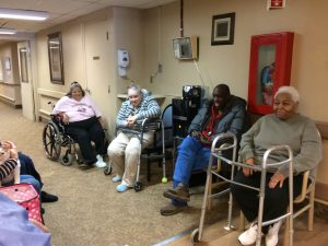 Patients waiting for Kali-Ma at Medilodge Nursing Home