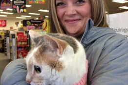 Kali-Ma the Cat with Missi from CVS