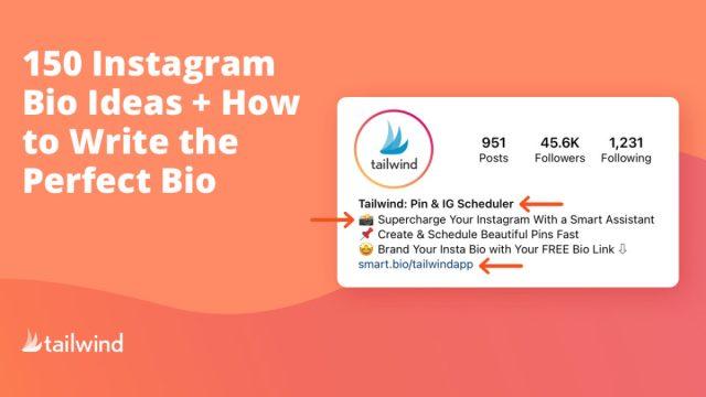 8 Instagram Bio Ideas + How to Write the Perfect Bio  Tailwind App