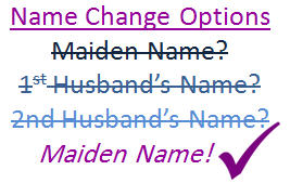 Name Change Options