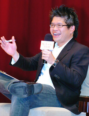 (Photo, courtesy of TAIPEI TIMES, by Liao Chen-Huei)  YouTube co-founder Steve Chen smiles while delivering a public speech at the Taipei International Convention Center Saturday, June 9, 2007.