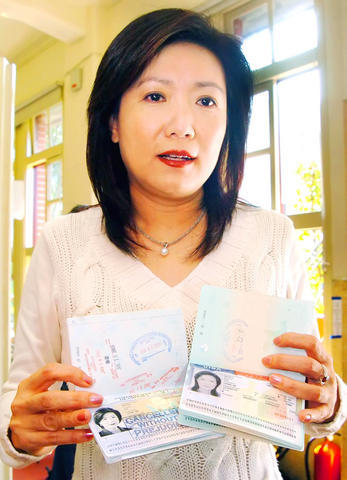 (Photo, courtesy of TAIPEI TIMES, by Chu Pei-Hsiung)  Chinese Nationalist Party (KMT) Legislator Diane Lee dismisses a story published in Next Magazine during a news conference in Taipei Wednesday, March 12, 2008.