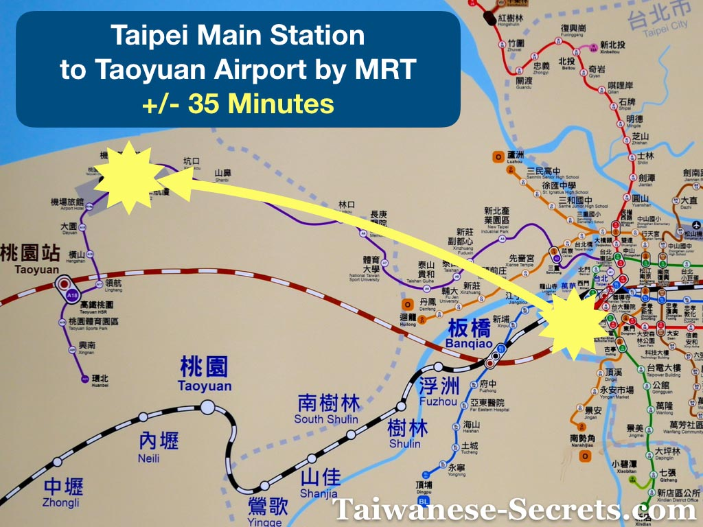 taipei main station to taoyuan airport by mrt