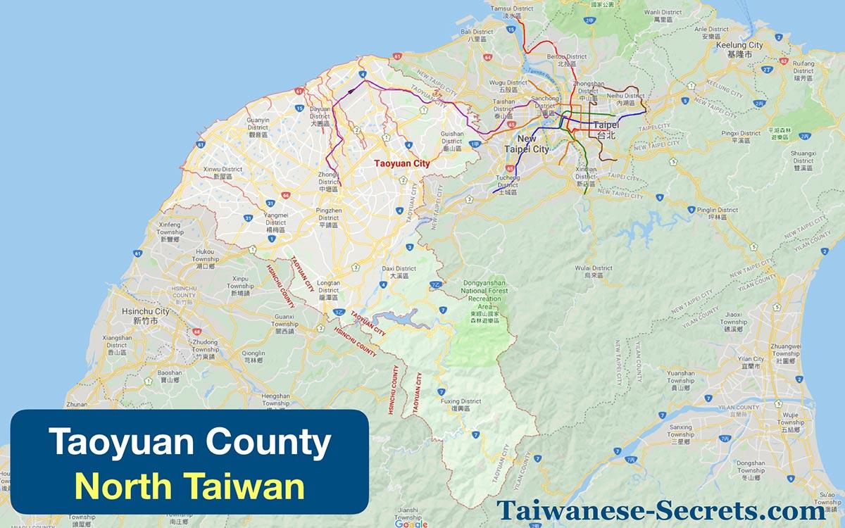taoyuan county taiwan map