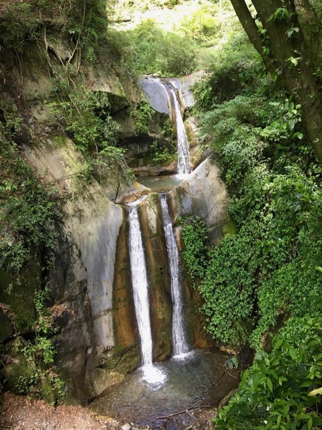 aowanda double falls waterfall