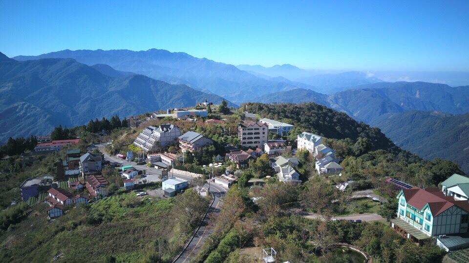 drone shot of qingjing farm, nantou county, taiwan