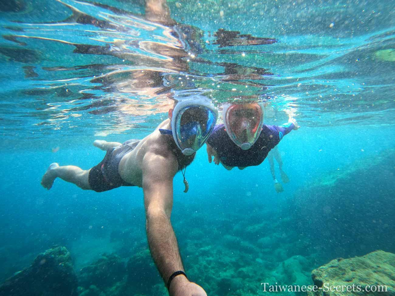 snorkeling green island taiwan