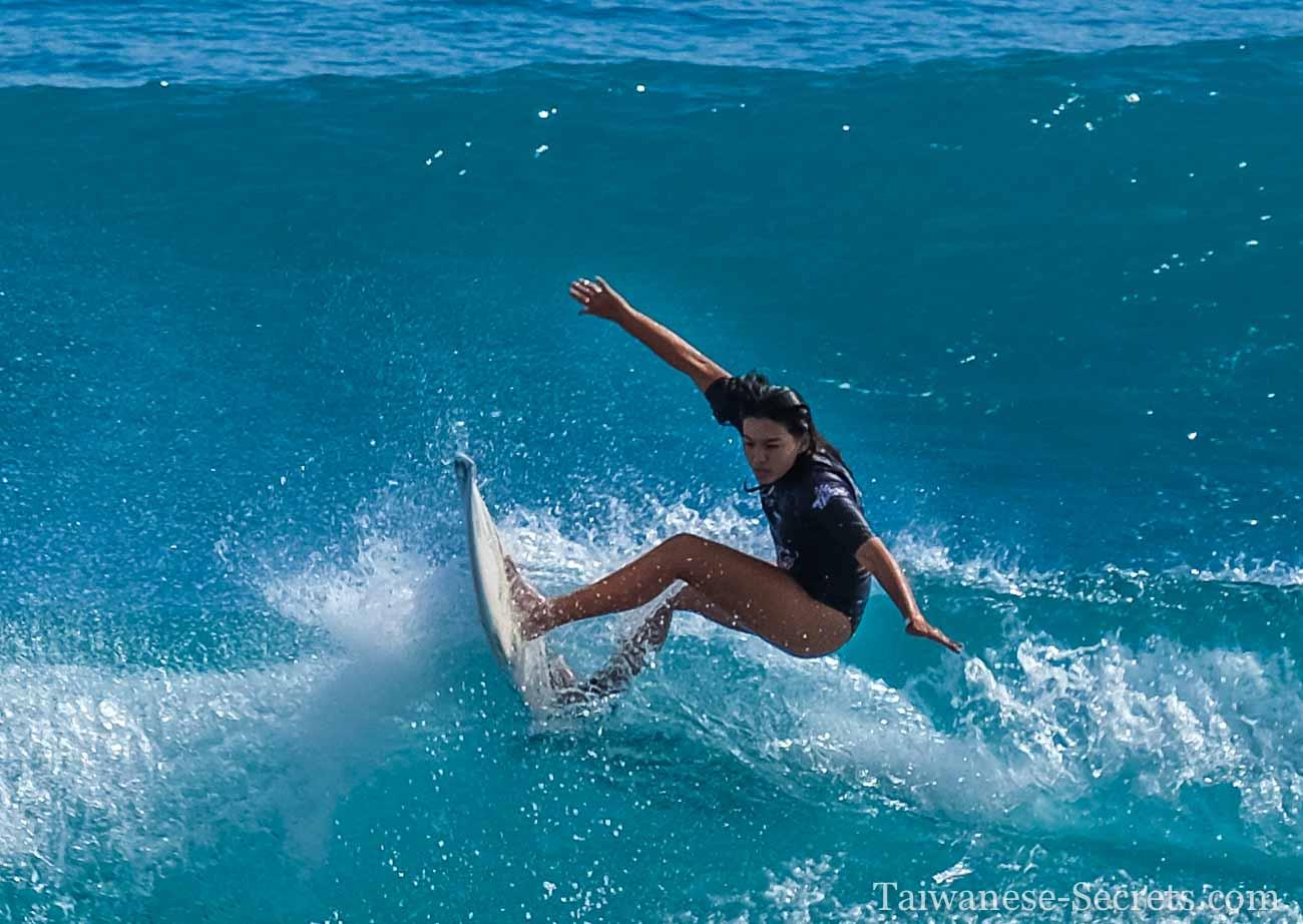 surfing taiwan jialeshui girl