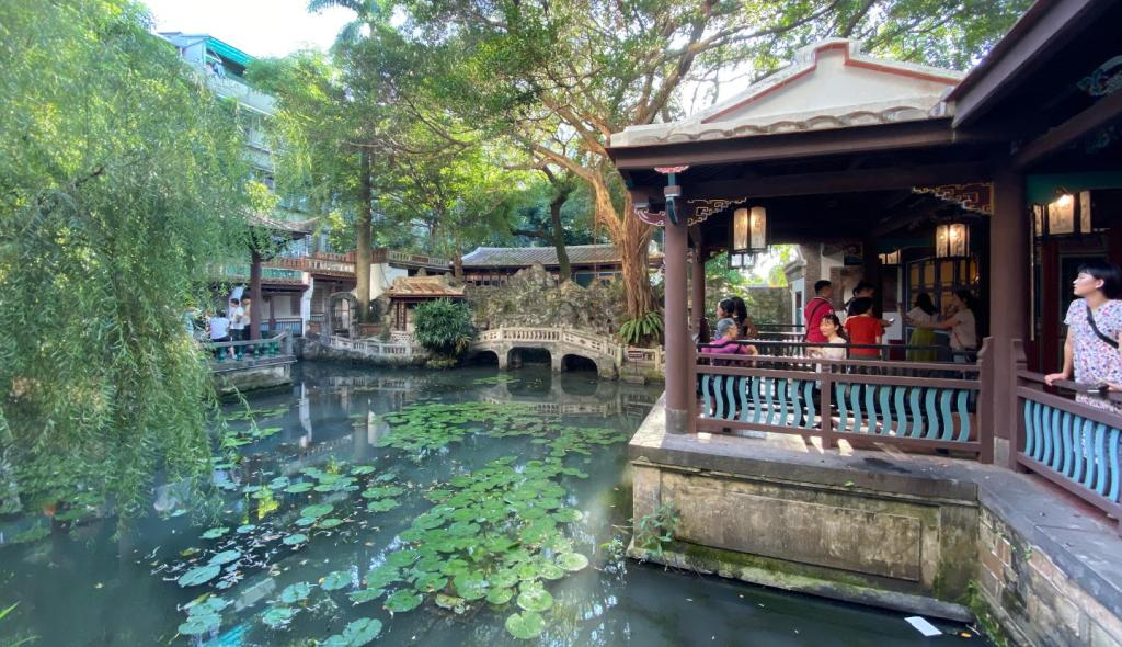 The Lin Family Mansion and Garden pond