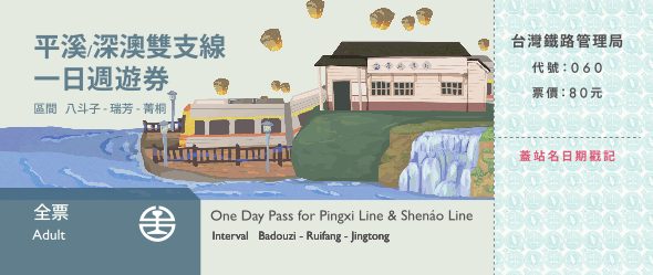 pingxi line train ticket one day Pass