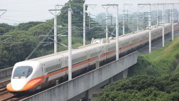Taiwan west coast high speed train