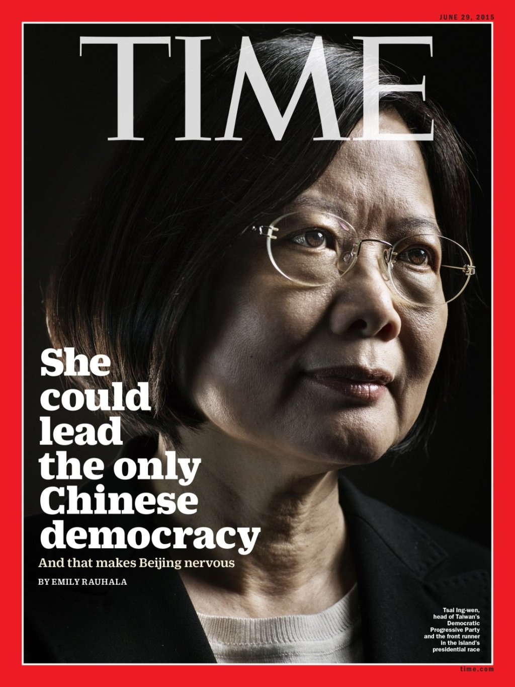 Time Magazine Tsai Ing Wen Cover Taiwan ROC 蔡英文 1