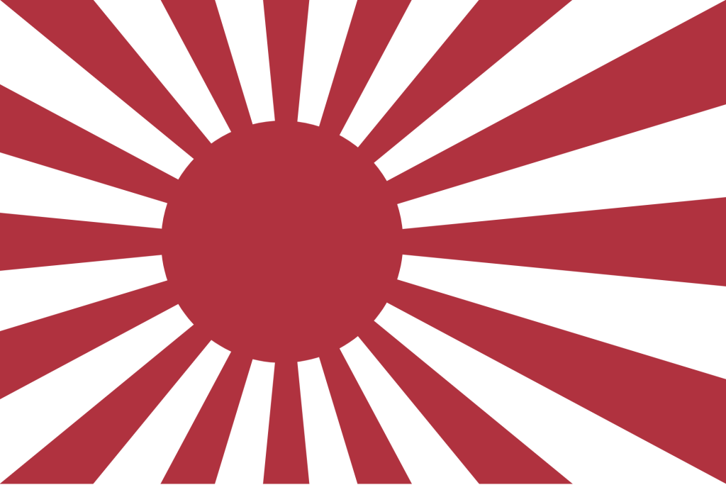 Rising Sun Flag Naval ensign of the Empire of Japan War 1