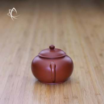 Small Classic Shui Ping Red Clay Teapot Handle View