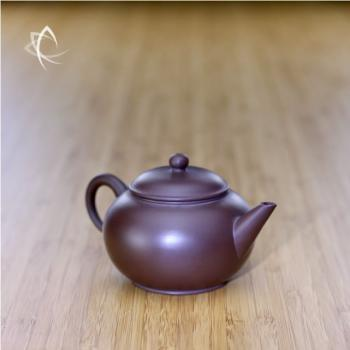 Small Purple Clay Shui Ping Teapot Angled View