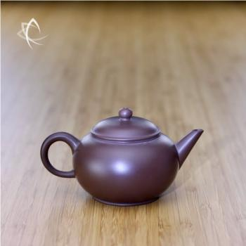 Small Purple Clay Shui Ping Teapot Side View