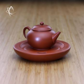 Small Classic Shui Ping Red Clay Teapot with Tea Boat
