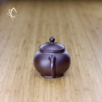 Hand Thrown Small Round Teapot Handle View