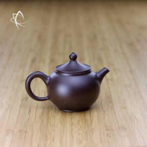 Hand Thrown Small Round Teapot with Marquee Shaped Lid Featured View